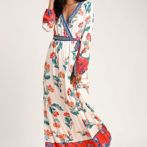 Lulu's Sunrise to The Occasion Print Maxi Dress
